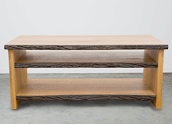 Natural Edged Media Console